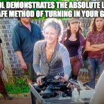 carol plays it safe dumb on the walking dead 2015