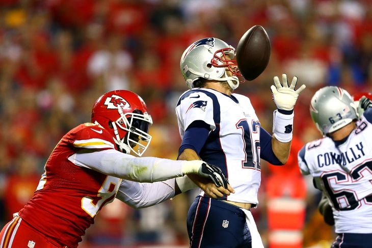 chiefs beat new england patriots 2015 images