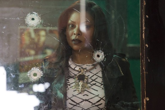 cookie looking through bullet hole window empire 2015