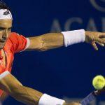 david ferrer returning balls to nishikori kei in acapulco tennis 2015
