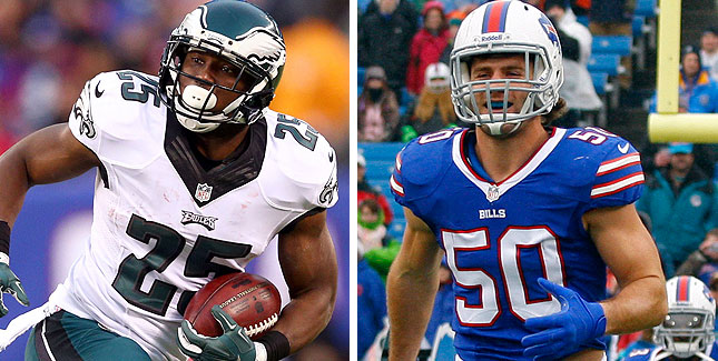 lesean mccoy with kiko alonso trade nfl 2015