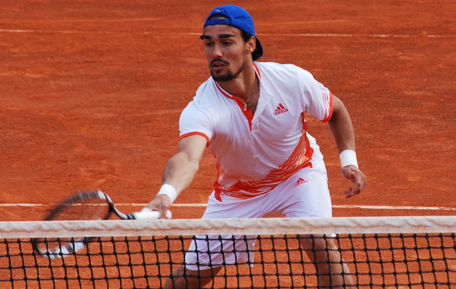 fabio fognini clay court tennis action 2015