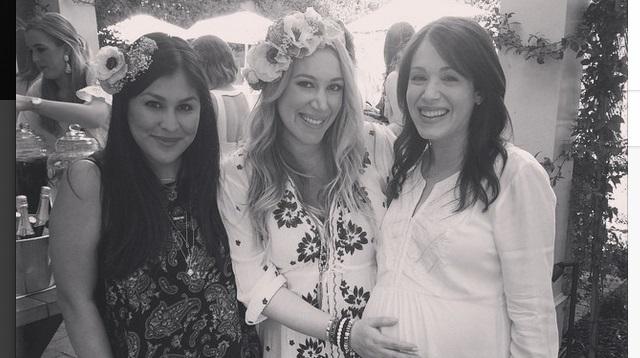 hilary duff throws haylie baby shower 2015 gossip