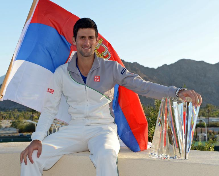indian well tennis with novak djokovic