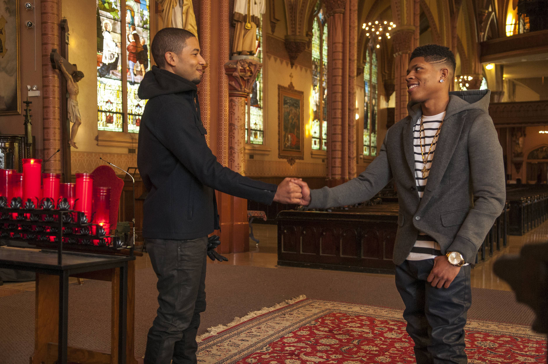jamal with hakeem bulge in church for empire 2015