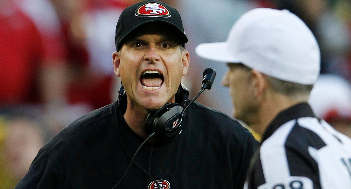 jim harbaugh ex coach of san francisco 49ers 2015