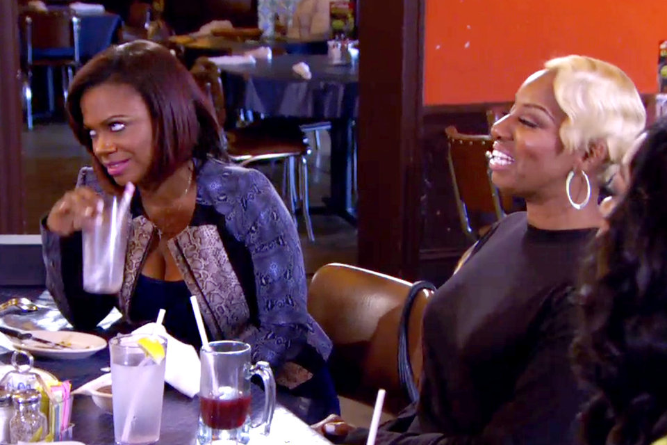 kandi rolls eyes at nene counseling group real housewives of atlanta