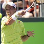 kei nishikori beats viktor troicki during 2015 miami open masters