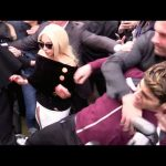lady gaga bodyguard choking air from fan 2015 gossip