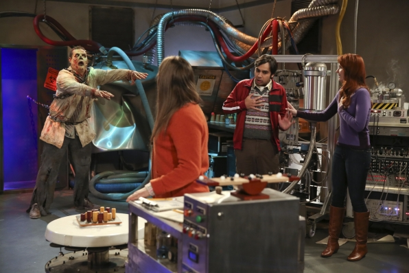 lame zombie puzzle room on big bang theory 2015