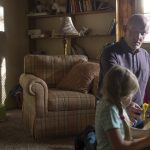 mike taking care of granddaughter on better call saul 2015