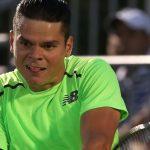 Milos Raonic & Kei Nishikori Hit Fourth Round: 2015 Miami Open Masters