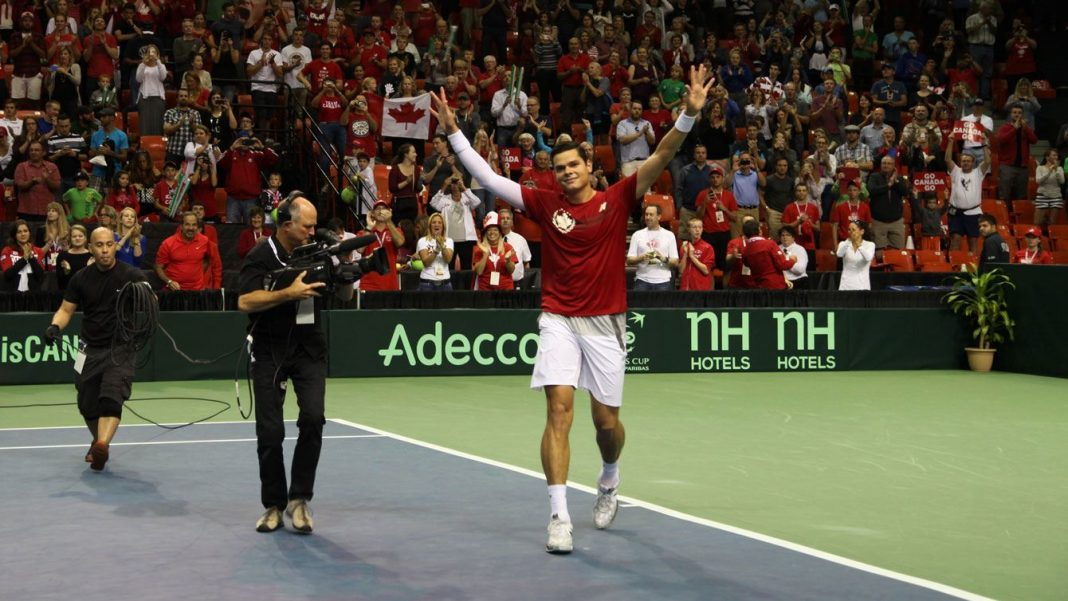milos raonic helps betting odd for davis cup 2015 canada