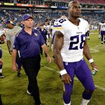 minnesota vikings mike zimmer not letting adrian peterson go nfl 2015