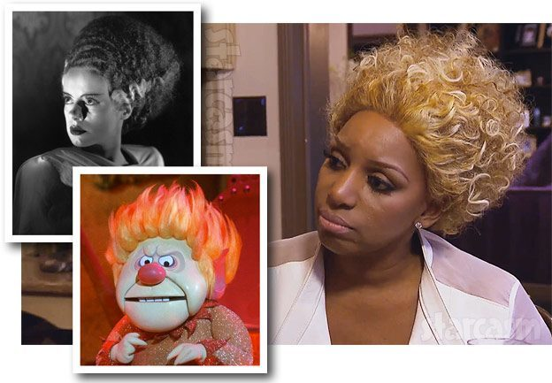 nene leakes goes bride of frankenstein hair for rhoa 2015