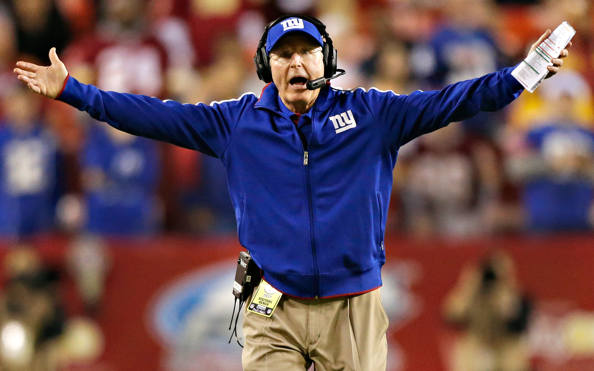 tom coughlin on hot seat to keep new york giants coaching job