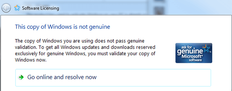 non genuine version of windows 10 wont upgrade 2015
