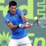 novak djokovic hittings balls hard for 2015 maimi open masters