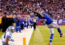 odell beckham jr giants one handed catch for nfl 2015 images