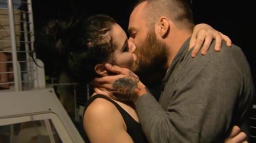 paige bradley kiss for total divas wwe raw 2015