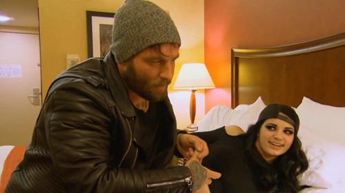 paige with humpy bradly on total divas 2015