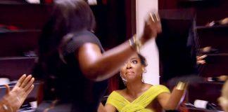 phaedra hits kenya moore with purse real housewives of atlanta 2015
