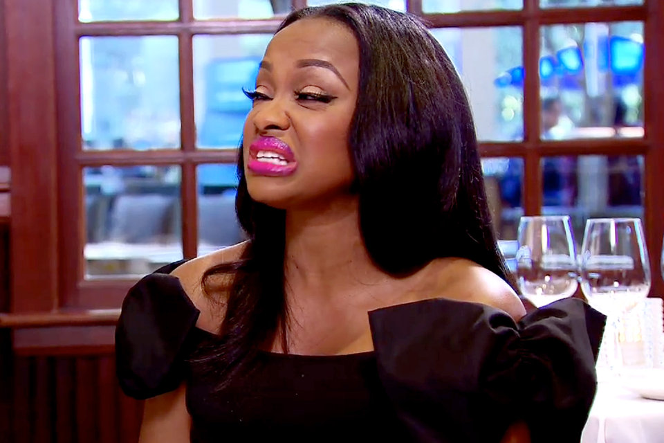 phaedra making face about kandi on real housewives of atlanta 2015