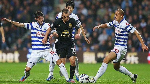 qpr loses to everton premier league soccer 2015
