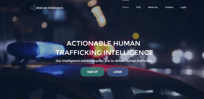 rescue forensics app for human trafficking 2015