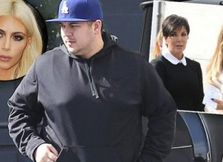 rob kardashian fat man for kris kim khloe family 2015