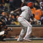 ryan howard sacrifice for phillies baseball 2015