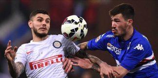 sampdoria beats inter milan serie a soccer 2015