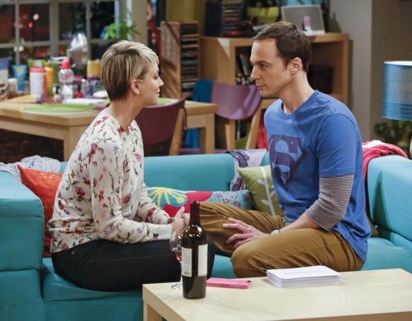 sheldon staring down pennys eyes in big bang theory intimacy 2015