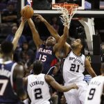 spurs beat hawks nba 2015 images