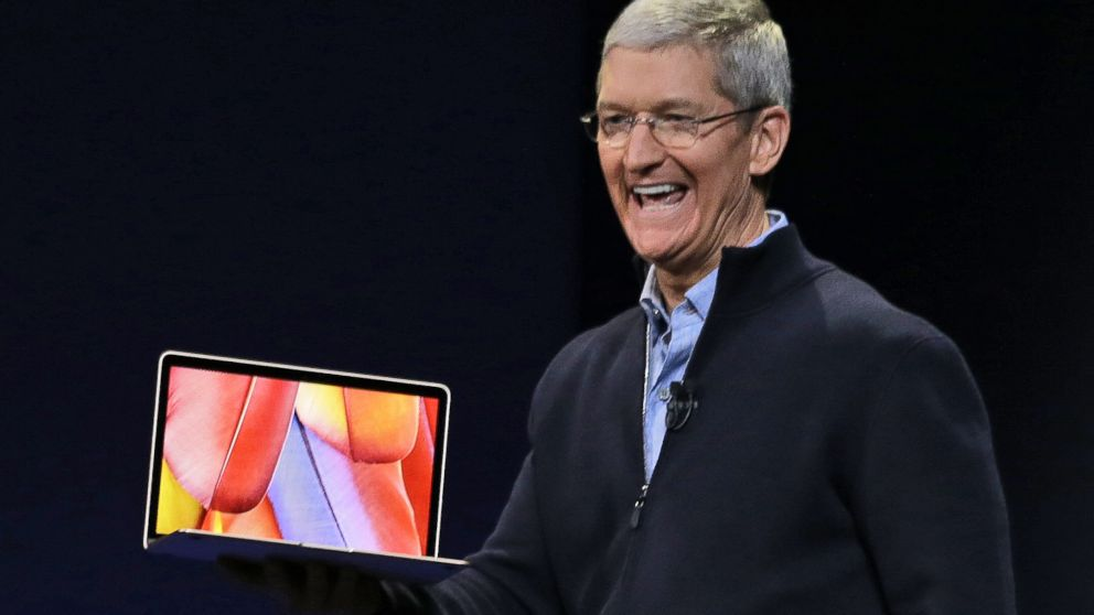 tim cook introduces apples new macbook with just one port 2015 images