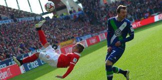 wolfburg draws with mainz soccer 2015