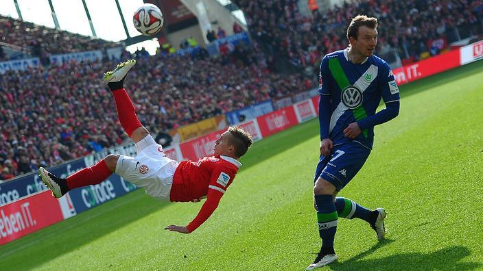 wolfburg draws with mainz soccer 2015
