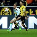 Borussia Dortmund loses to Borussia Moenchengladbach Bundesliga week 28 images 2015