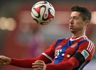 Robert Lewandowski scores only goal for bayern munich