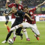 ac milan vs inter milan draw serie a soccer 2015