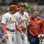 adam wainwright achilles heel injury cardinals mlb 2015