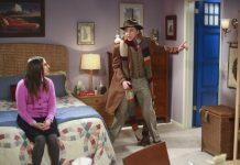 amy puts dr who door on bedroom big bang theory 2015
