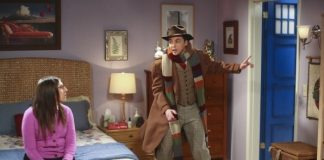 amy puts dr who door on bedroom big bang theory 2015