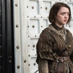 arya outside black white castle on game of thrones recap 2015