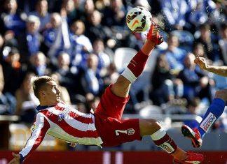 atletico beats deportiva la liga soccer 2015