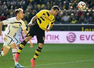 borussia dortmund beats paderborn soccer 2015