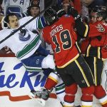 calgary flames beat vancouver canucks stanley cup playoffs 2015 nhl