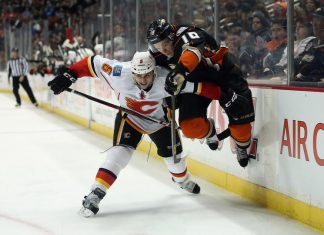 calgary flames take on anaheim ducks stanley cup playoffs 2015