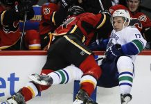calgary flames tied with vancouver canucks 2015 nhl stanley cup playoffs