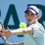 dominic thiem gives hard ball to andy murray at 2015 miami open masters